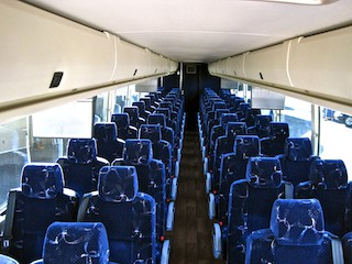 Charter and Shuttle Bus Full-size Motorcoach Interior