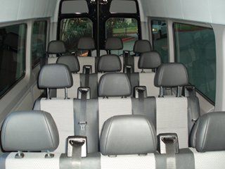 Charter and Shuttle Bus Mercedes Sprinter Van Interior