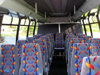 Charter and Shuttle Bus 24 passenger Minibus Interior